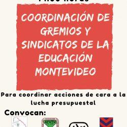 Coordinación de gremios y sindicatos de la educación