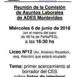 Reunión de la comisión de asuntos laborales / Miércoles 6 de junio