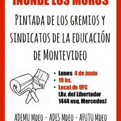 Pintada de gremios y sindicatos de la educación 04/06