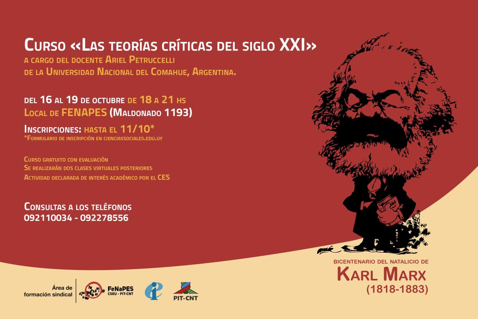 """Curso: """"Las teorías críticas del siglo XXI"""", a cargo de Ariel Petruccelli"""