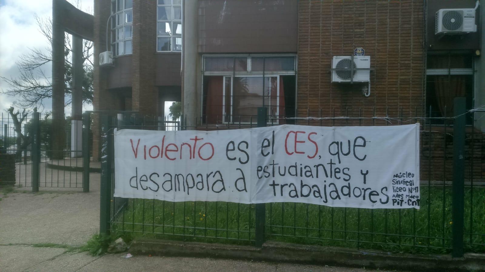 Núcleo Sindical del Liceo N° 41 exige condiciones que garanticen los derechos de estudiantes y trabajadores ante hechos de violencia