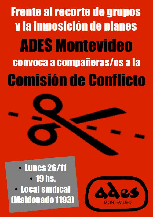 Lunes 26 de noviembre: reunión de la Comisión de Conflicto