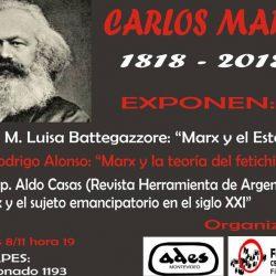 Invitación a charla por el bicentenario del nacimiento de Carlos Marx