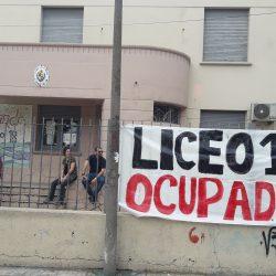 Imagenes de ocupacion del Liceo 18 del Zonal Prado