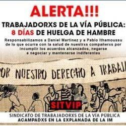 Comunicado del Sindicato de lxs Trabajadorxs de la Vía Pública