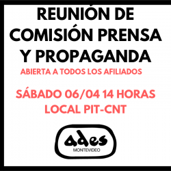 Reunión de comisión de prensa y propaganda
