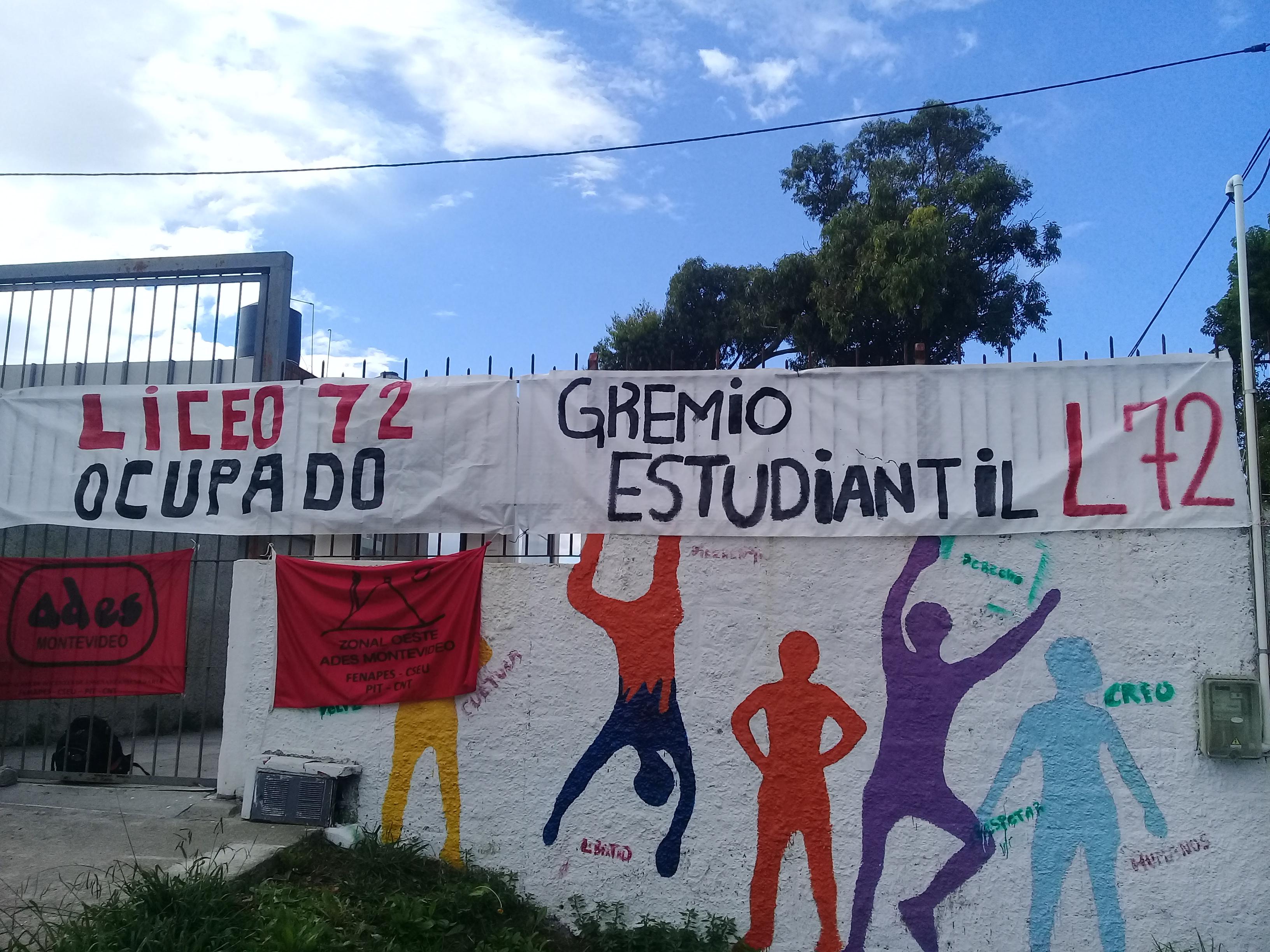 Núcleo sindical del Liceo N° 72 suspende la medida de ocupación ante el logro de su plataforma reivindicativa