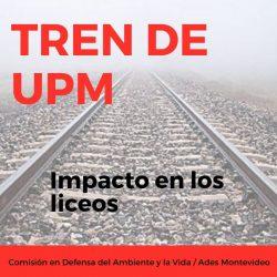 El CoDiCen de la ANEP reconoce no contar con información sobre el impacto del tren de UPM en los liceos próximos a la vía férrea
