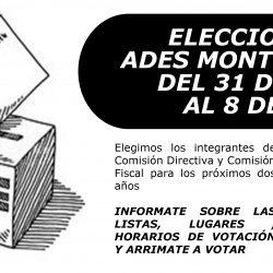 Elecciones de ADES Montevideo