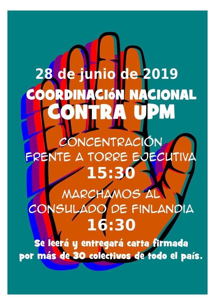Viernes 28 de junio: movilización contra UPM