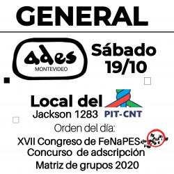 Asamblea general sábado 19 de octubre