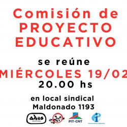Reunión de comisión de proyecto educativo