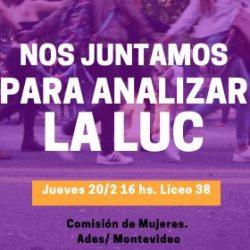 Jueves 20 de febrero: reunión de la Comisión de Mujeres de ADES Montevideo